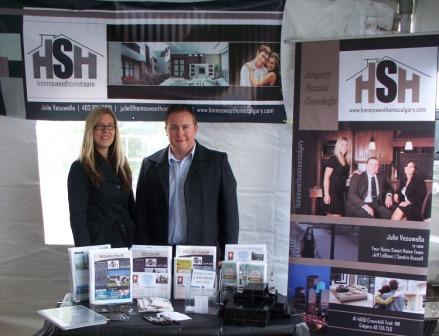 Jeff LeBlanc and Sandra Russell from the Home Sweet Home Team.