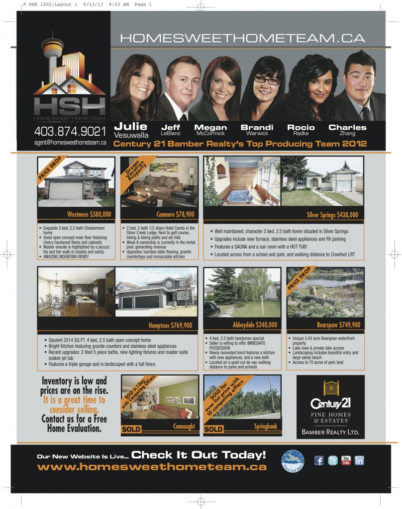 Homes & Lands - October 2013 AD